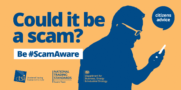 """Citizens Advice """"Could it be a scam"""" logo"""